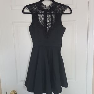 🍭Missguided🍭Lace top black dress